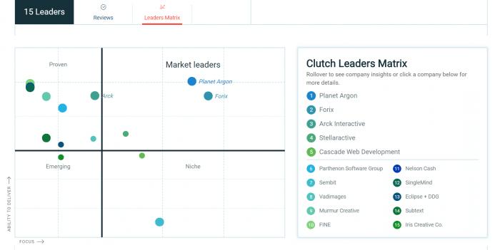 Web Development Market Leaders